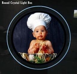 China Round Acrylic Crystal Slim LED Light Box 12V / 24V Photo Frame on sale