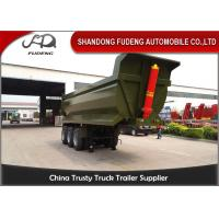Buy cheap Tri - Axles U Shape Dump Semi Trailer For Earth Work , Carbon Steel Material product