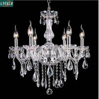 Buy cheap New crystal chandelier for home lighting lustres de cristal E14 bulb light fixtures product