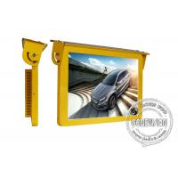 Buy cheap 19 Golden Color Bus Digital Signage , 3G Led Bus Advertising Display Screen 12 Or 24 Volt product