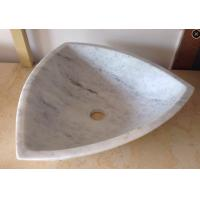 Buy cheap Arabescato White Marble Basin / Bathroom Wash Sink Wood Vein Marble Basin product