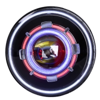 Buy cheap 7 Inch Round LED Demon Eye Halo Headlights For Jeep Wrangler product
