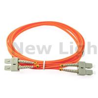 Buy cheap 3 meters SC - SC multi mode fiber patch cord duplex OM4 50/125 2.0 cable product