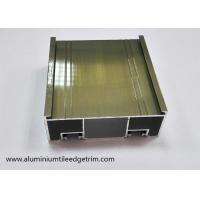 Buy cheap Electrophoresis Coating Champagne Aluminium Sliding Door Frame Mullion Profile from wholesalers