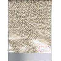 China Waterproof PU Coated Leather Embossed Pattern 0.7mm Thickness on sale