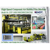 1200 - 2000mm Width PE Air Bubble Film Machine With Back Unwinder Station