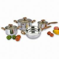 Buy cheap Cookware Set, Brown Bakelite Handle and Knob, Brown Glass Lid product