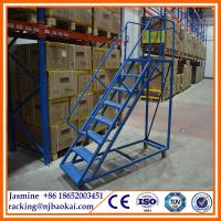Scaffolding Rolling Warehouse Ladder For Asian Market Q235