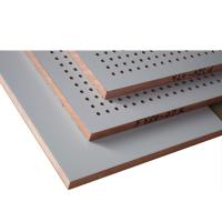 Buy cheap MDF Perforated Wood Acoustic Panels Recording Room Acoustic Absorption Panels product