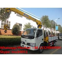 Buy cheap Customized wholesale best price dongfeng 4*2 LHD 2tons telescopic boom mounted from wholesalers