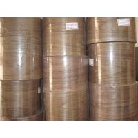 Buy cheap 0.5mm Walnut Veneer roll with paper backed for furniture Usage product