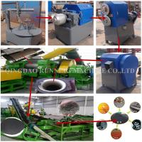 Buy cheap Semi Auto Rubber Tyre Recycling Machine / Rubber Tire Shredder ISO Certification product