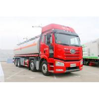 Buy cheap Large Capacity 8x4 FAW Diesel Fuel Storage Tank Truck Euro III Red Color from wholesalers