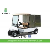 Buy cheap 2 Seats Small Cargo Vehicle Electric Golf Cart With Stainless Steel Container For Hotel product