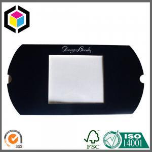 Buy cheap Boîte de papier d'aluminium de logo de noir d'oreiller chaud argenté de tirage en couleurs avec la fenêtre ouverte product