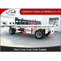 Buy cheap 30 - 50 TonTowing Draw Bar Trailer Flat Bed / Chassis Shape Fuwa / BPW Axle product