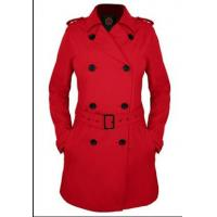 Buy cheap Lady's jacket Fashion long Double breasted Coat With Belt for Autumn and Winter from wholesalers