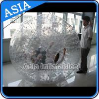 China Single Hole Clear Inflatable Grass Zorb Ball In 0.8mm Tpu Used In Grass on sale