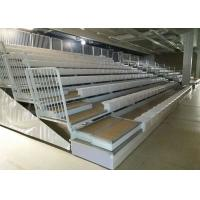Buy cheap Stadium Retractable Grandstands Seating Wired / Remote Control With Side Rails product