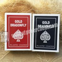 Buy cheap Gold Dragonfly Plastic Coated Playing Cards With 2 Regular Index product