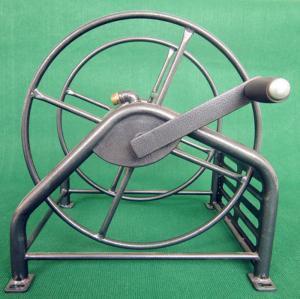 Buy cheap Heavy Duty Metal Garden Hose Reel With Folding Free Wheeling Crank Handle product