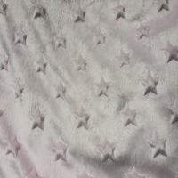 China 100% polyester  wholesale factory velboa minky dot fabric for home textile/toy on sale