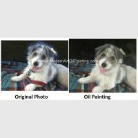 Buy cheap Pet Custom Oil Painting Portraits Personalized Dog Portrait Painting Unique Gift from wholesalers