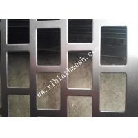 China 1m Width Rectangular Hole Perforated Metal Plate Galvanized Plate 2m Length on sale