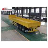 Buy cheap 3 Axles Drop Side Front Load Trailer High Duty Steel Structure 60T Payload product