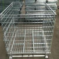 Buy cheap Heavy Duty 50mm Galvanized Welded Metal Storage Cages for Transportation product