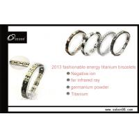 Buy cheap Good for body health power magnetic titanium bracelet with germanium titanium from wholesalers