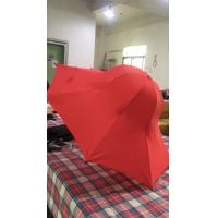 Buy cheap Special Shape Cap Red Large Collapsible Umbrella With Black Steel Frame product