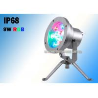 Buy cheap 9W RGB IP68 Waterproof Underwater Led Lights Support DMX 512 Controller product