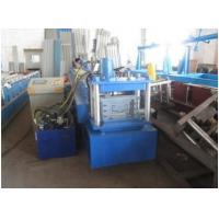 Buy cheap Blue Metal Door Frame Roll Forming Machine Full Automatic  With Lock Hole Station product