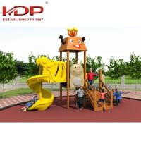 Buy cheap Unique Wooden Playground Equipment For Children , Wooden Play Area With Slide product