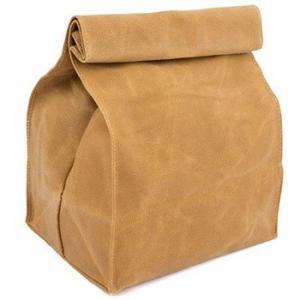 Eco Friendly 10oz 12oz 16oz Waxed Canvas Insulated Reusable Lunch Bag