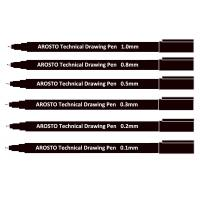 Buy cheap Black Pigment Ink PP Technical Drawing Pens for Sketching or Writing Waterproof product