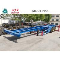 Buy cheap 40FT 3 Axle Skeleton Chassis Trailer , Skeletal Container Trailer For Transportation product