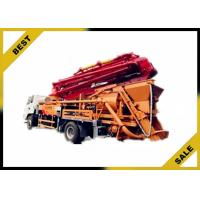 China Hydraulic 120kw Generator Cement Pump Truck , Concrete Crane Truck With 30kw Pumping Motor on sale