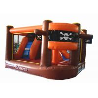 Quality Inflatable pirate themed mini jump gray colour inflatable pirate topic painting for sale