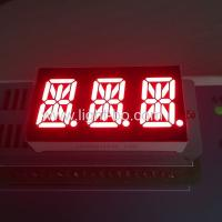 Buy cheap Ultra Red Triple Digit Alphanumeric Led Display , 0.54 Inch 14 Segment Display product