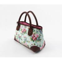 Modern Colorful Canvas Floral Bag Tote Handbags For Spring / Summer / Autumn