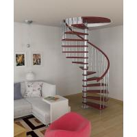 Buy cheap Interior stainless steel wood staircase design product