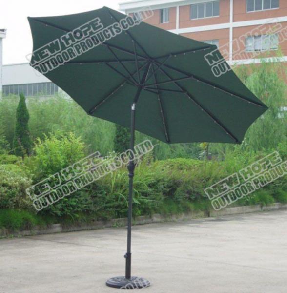 solar power led light advert garden umbrella of newhope1. Black Bedroom Furniture Sets. Home Design Ideas