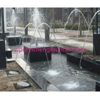 China Rainbow Glass Light Jet Water Fountain Equipment With LED Light / Stable Soft Spray wholesale