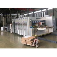 Buy cheap Automatic Feeder Corrugated Box Flexo Printer Slotter Die Cutter Stripping Stacker Machine product
