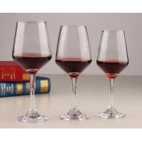 China Clear smooth durable glass material red wine glass on sale