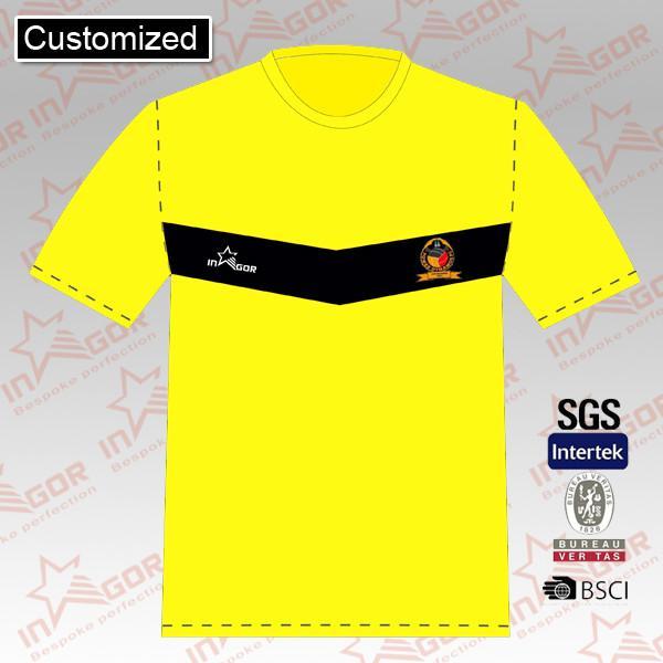 Yellow sublimated soccer jersey team uniform custom football teamwear