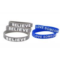 Buy cheap Blue Or Gray Sports Silicone Wristbands / Custom Made Silicone Bracelets product