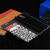 Buy cheap Leopard Grain Leather Case For Samsung Galaxy Note III 3 N900 With Stand and Card Holder product
